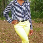 outfit-of-the-day-ootd-yellow-pants-black-and-white-stripes-beauty-and-the-beat-blog