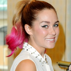 lauren-conrad-pink-tipped-ponytail-beauty-and-the-beat-blog