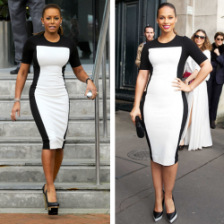 mel-b-vs-Alicia-Keys-in-stella-mccartney-color-block-dress-mel-b-color-blog-dress-beauty-and-the-beat-blog