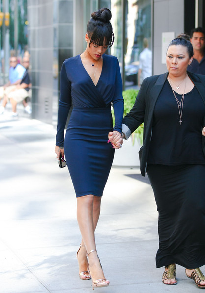Seeing Double Rihanna And Kim Kardashian In Navy Blue