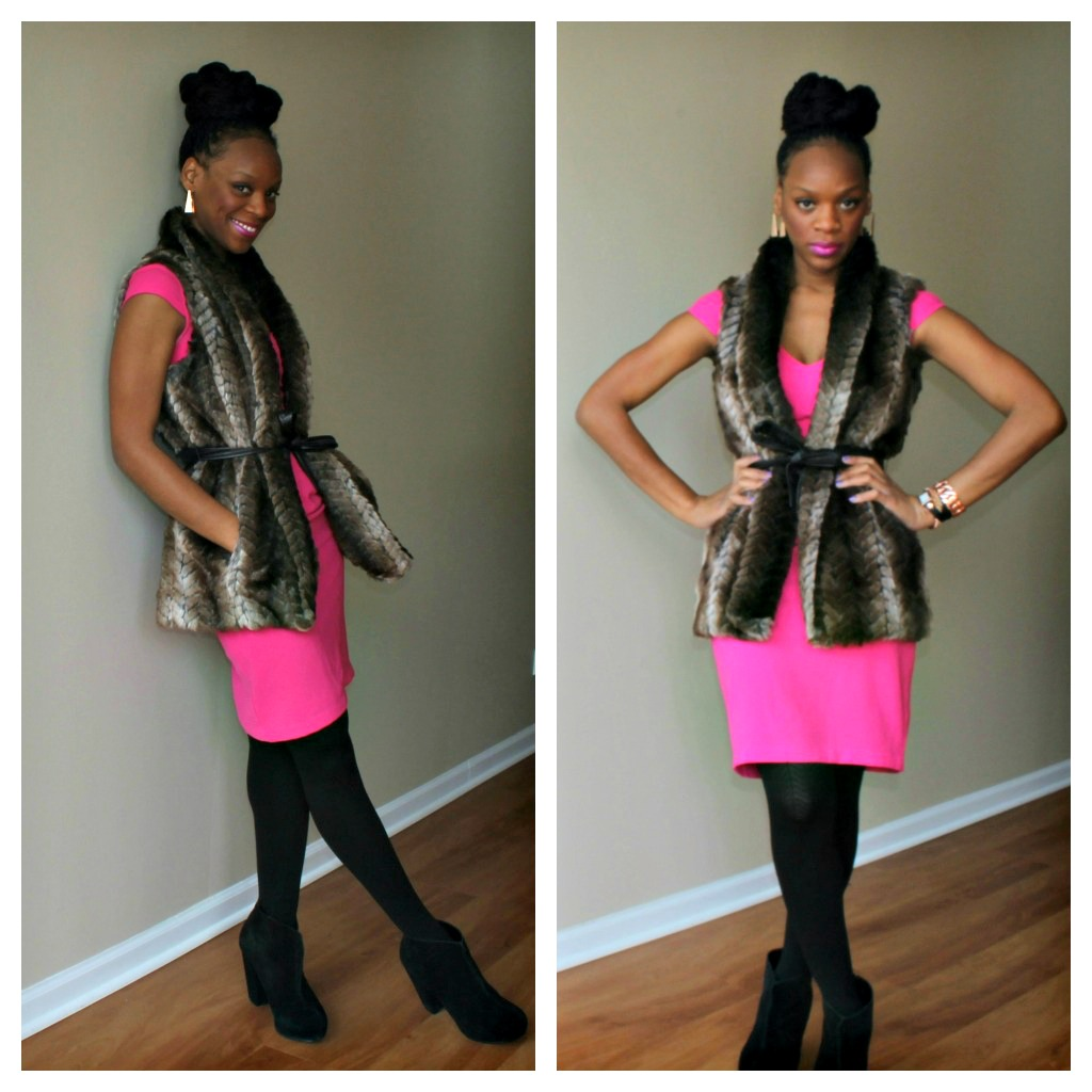 faux-fur-vest-jcpenny-pink-dress-beauty-and-the-beat-blog