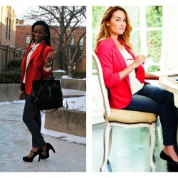 glamspiration-lauren-conrad-in-spring-2013-lc-kohls-collection-polka-dot-jeans-red-blazer-white-blouse-black-shoes-beauty-and-the-beat-blog