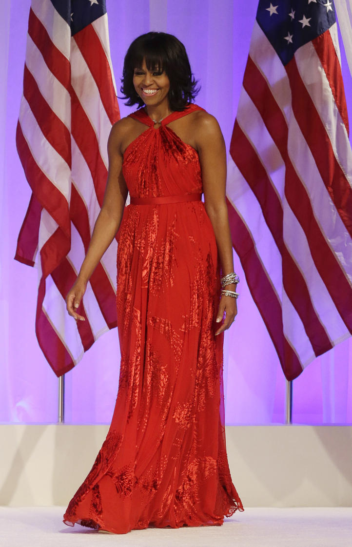 Behold, A Lady: Michelle Obama Stuns in Ruby Jason Wu Gown ...