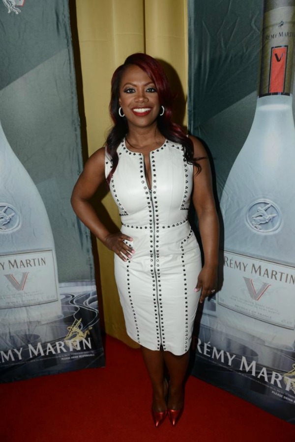 Haute Or Not Kandi Burruss In White Leather Studded