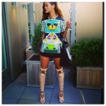 rihanna-kate-katrantzou-leather-shirt-black-shorts-tom-ford-strappy-boots-beauty-and-the-beat-blog