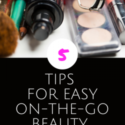 On the go beauty tips promotional image