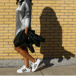 let-your-light-shine-in-2016-silver-metallic-shift-dress-boohoo-adidas-superstar-sneakers-outfit-ootd-beauty-and-the-beat-blog
