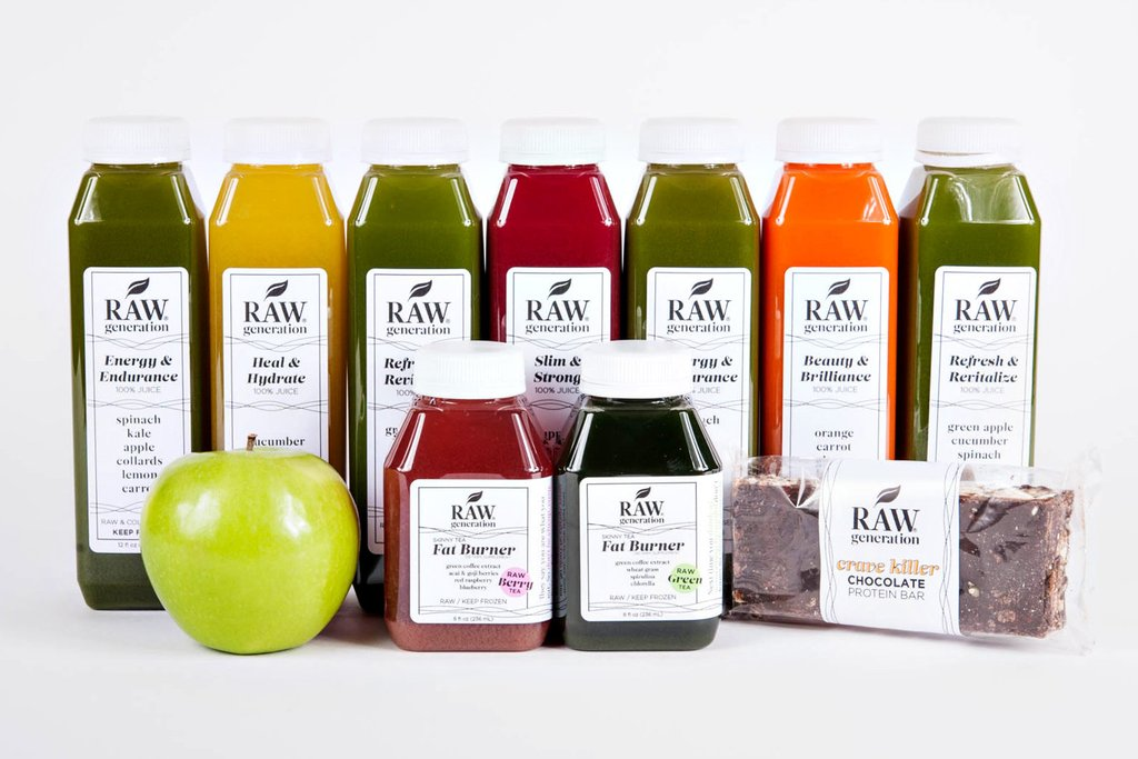Raw Generation Skinny Start Juice Cleanse 3 Days