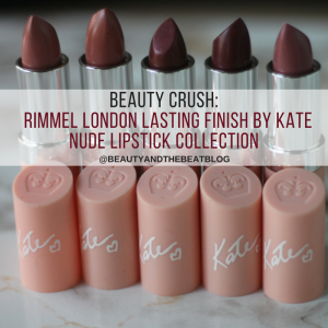 Beauty Crush:  Rimmel London Lasting Finish By Kate Moss Nude Lipstick Collection + Swatches on Dark Skin!